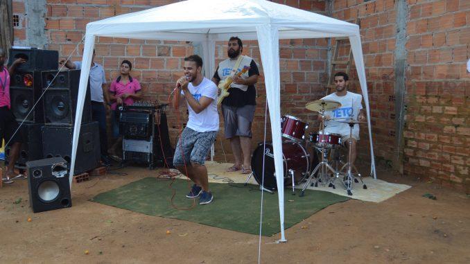 Na foto: Antônio Fragoso, o Ticão, no vocal, Jorge Santana no contrabaixo, Lucas Altmicks no teclado e João Costa na bateria.
